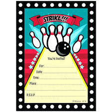 Free Printable Bowling Party Invitation Templates Making