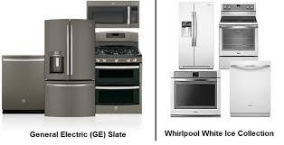 slate appliances vs stainless. Simple Appliances GE Slate Vs Whirlpool Ice For Appliances Vs Stainless E