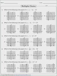 graphing quadratic functions in standard form worksheet webmart me