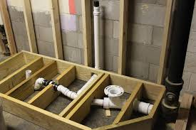 bathroom remodel raised drainage platform