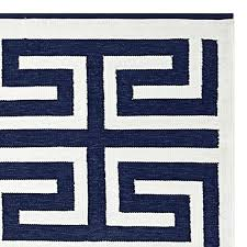 navy outdoor rug and white striped indoor solid