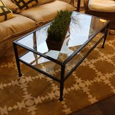 Crate And Barrell Coffee Table Crate Barrel Glass And Metal Coffee Tables North Shore Exchange
