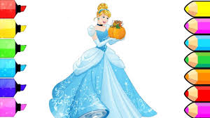 Disney Princesses Cindrella Coloring Pages L How To Color And