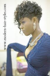 pixie with a high definition set of curls can be achieved w blue magnetic rollers and lottaboddy setting lotion
