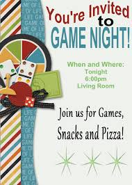 Game Night Invitation Template Chiara Chiara7492 On Pinterest