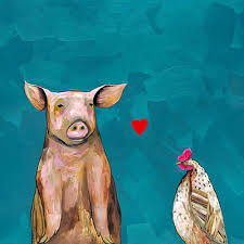 greenbox art hen loves pig canvas wall art on pig canvas wall art with greenbox art hen loves pig canvas wall art ehhnlp0013 c free