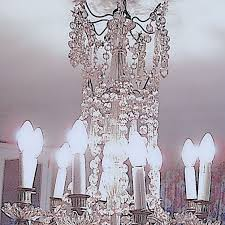 chandelier with baccarat crystals and 9 lights france ca 1900