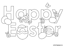 Photo In Happy Easter Coloring Pages At Coloring Book Online