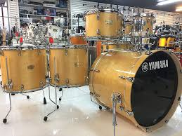 yamaha stage custom. yamaha stage custom birch drum set natural wood 6 piece shell pack - new w