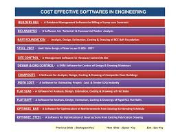 Rcc Building Design Software Free Download Ppt Cost Effective Softwares In Engineering Powerpoint