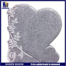 Be A Heart Design Hot Item Good Price Portugal Style Heart Design Gravestone With Rose Flower Carving