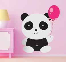 cute panda wall sticker on panda wall art uk with cute panda wall sticker tenstickers