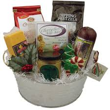 picture of wisconsin cheese sausage gift bucket