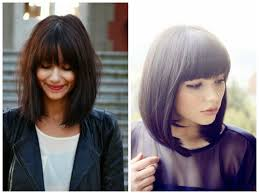 Hairstyles With Blunt Fringe Medium Hair With Layers And Side Bangs Pictures