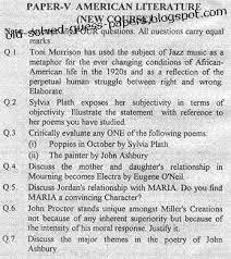 american literature paper v part i old solved and guess papers 2006 american literature
