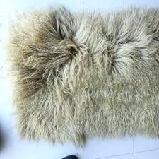 sheepskin rug lamb inside grey mongolian