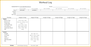 Program Notes Template Gym Workout Log Book Exercise Template On The Job Training