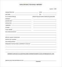 21 Daily Construction Report Templates Pdf Google Docs Ms Word