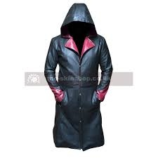 devil may cry dmc 5 dante genuine or faux leather hooded jacket trench coat