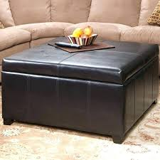 brown leather ottoman oval solutions to coffee table with storage in step by rectangle