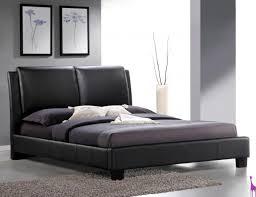 roggan complete brown platform bed in faux leather