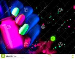 Neon Lights Nail Polish Fluorescent Nailpolish Fashion Nails In Neon Light Stock