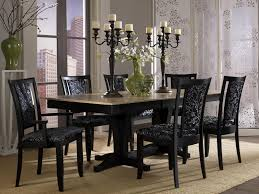 Kitchen Tables Columbus Ohio Popular Black Modern Dining Room Sets Contrasting Black Or White