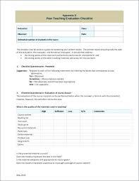 Teacher Observation Checklist Template Parent Conference Concern ...