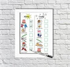 Details About Kids Routine Chart Toddler Chart Kids Daily Planner Pecs Sen Autism Adhd