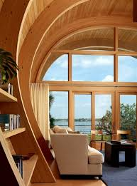 curved wood ceiling. Simple Curved Guest House Made Of Wood For Curved Wood Ceiling B