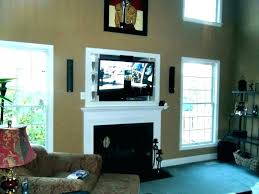 over fireplace ideas too high above mounting large size of wall mantle cable box hanging how