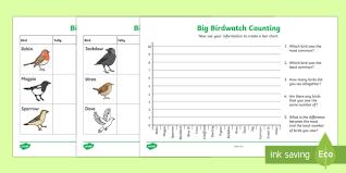 Bird Counting Worksheet Worksheets Ks1 2 Big Birdwatch