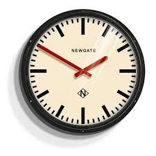 newgate metropolitan black wall clock