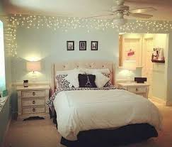 Wonderful Just A Simple Strand Of Icicle Lights Framing One Bedroom Wall.