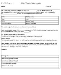 Motorcycle Bill Of Sale Impressive 44dirt Bike Bill Of Sale Proposal Letter