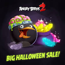 Angry Birds 2 - The Halloween Sale is on! Bomb has dressed...