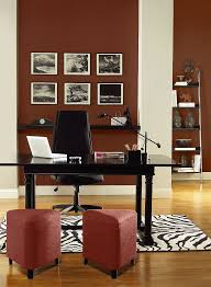 office colors for walls. Energizing Red Home Office! Walls Color: Rock - Columns Jute Office Colors For A