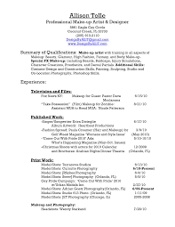 Resume For A Makeup Artist