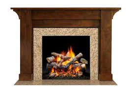 Traditional fireplace mantel / oak - PARSONS - HEAT & GLO