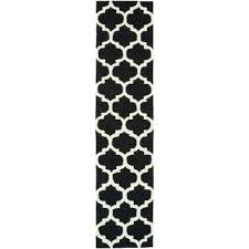 black white checd runner rug area rugs the home depot artistic weavers compressed black and white runner rug