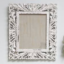 ornate white photo frame 10x8