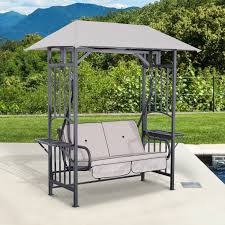 outdoor furniture swing chair. Outsunny Outdoor Patio 2 Person Swing Chair Seat Porch Loveseat Hammock W/Canopy Furniture H