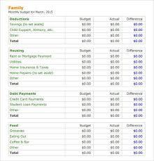 Sample Of Family Budget Sample Family Budget Threeroses Us