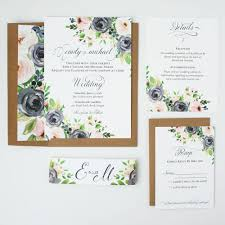 Sample Of Weeding Invitation Navy And Blush Rustic Ava Wedding Invitation Sample