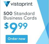 Vistaprint Coupons Promo Codes 500 Business Cards For 10 March