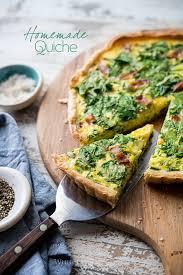 easy quiche recipe with spinach bacon