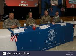 Leaders From The Texas Military Department Sit Together