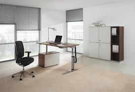 amazing furniture modern beige wooden office. Luury Office Desk With Oaks Laptop Table Combined Drawers And Fancy Black Chairs On Beige Rug Amazing Furniture Modern Wooden F