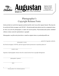 Photography Copyright Release Form 24 Photography Release Forms Organization Release Property Release 9