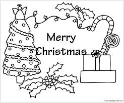 christmas tree with presents coloring pages. Fine Presents Christmas Tree And Presents Coloring Page To With Pages S